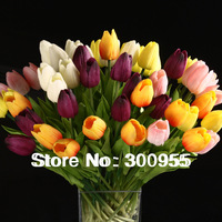 10pcs Wholesale Tulip Flower Latex Real Touch For Wedding Bouquet Decoration  Best Quality Flower  KC451-455