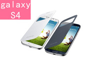 Flip  Leather case for Galaxy S4 Dormancy function cover flip battery case Touch screen S view Use for i9500/ i9508/ i9502/ i959