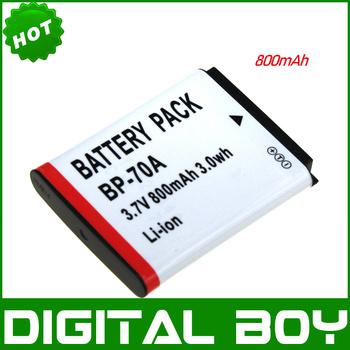 HOT SALES 100% quality 1Pcs BP-70A BP70A BP 70A Camera Battery for SAMSUNG ES65 ES67 ES70 ES71 ES73 ES7