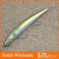 Wholesale 2013- New Arrivals 125mm/14.5g Baits Fishing Lure Plastic Hard Baits Pencil VMC Hook Sinking Depth:0.8m