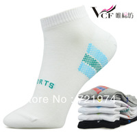 Free Shipping Wholesale  10pairs/lot  Cotton Men Sports Sock Slippers  Fit  38-44 yards  MK1105