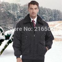 FREE SHIPPINGwinter work wear wadded jacket male tooling cotton-padded jacket office uniform 7906
