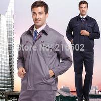 FREE SHIPPING Set of Jacket + Pants mechanic uniform Clothing work wear set male long-sleeve protective clothing h-811