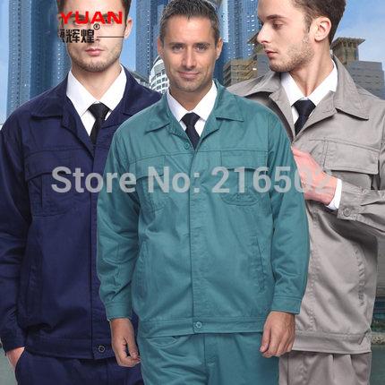 FREE SHIPPING Set of Coat+Pants long-sleeve automotive service uniform car beauty service uniform technician uniform(China (Mainland))