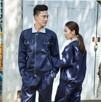 FREE SHIPPING SET OF JACKET+PANTS Work wear male long-sleeve workwear protective clothing work wear set male