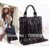 Bags New Arrival 2013  Korean style PU leather tassel women bag  fashion handbag shoulder bag women messenger bag