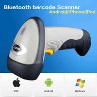 Free shipping Wireless Bluetooth Laser Barcode Scanner/reader+Bluetooth Adapter(Support Windows/Android/iPhone/iPad)