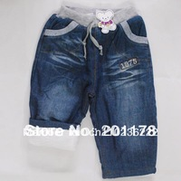 Free shipment thick warm children jeans winter pants children jeans Retail sales311
