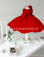 New Arrival Princess Dress Four Colors Sleeveless Textured Flower Decor Layered Wedding Party Flower Girl Dresses Girls' Gown