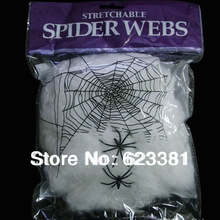 Event & Party Supplies Halloween Haunted House Prop Decoration Supplies A Large White Spider Web Prom Decorations Free Shipping(China (Mainland))