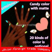 50pcs/lot CPAM Free Shipping Brand New BK Luminous Nail Polish Fluorescent Nail Oil / Nail Art