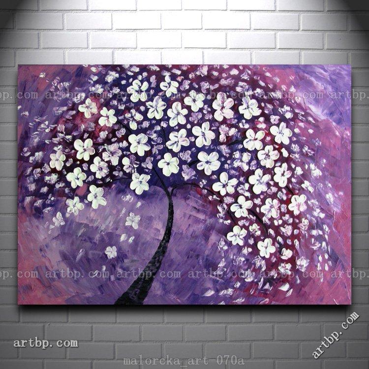 Oil Tree Paintings Tree in Purple Malorcka Oil