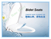 One Piece Design Simpe Bidet Seat, US Round Style Bidet with Dual Nozzles, Innovative Bidet, Green with No Electric