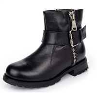 Free shipping 2013 new European and American retro fashion motorcycle boots