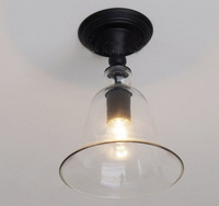 New Antique Vintage Style Glass Shade  Ceiling Lights  Fixture free shipping-LDC56
