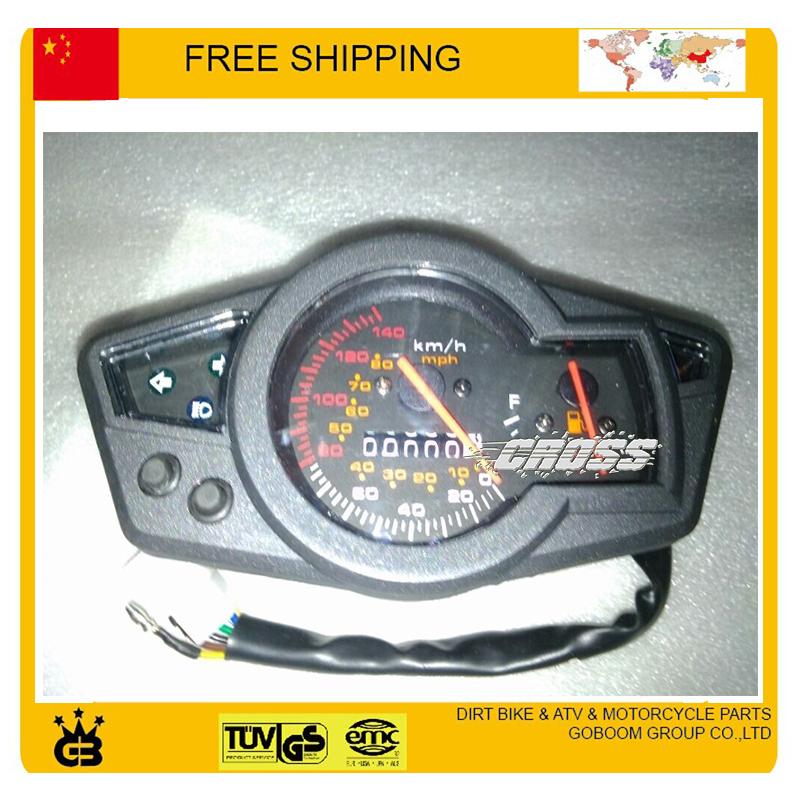 digital speedometer Universal LED Odometer Dashboard ATV, Street bike motorcycle parts free shipping(China (Mainland))