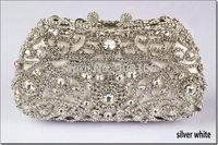 Free Shipping 2014 New Luxury Ethnic Style Llower Crystal Handbags Luxury Women Bags Print Evening Bags B7266