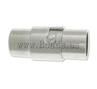 Free shipping!!!Brass Magnetic Clasp,Fashion Jewelry in Bulk, Tube, platinum color plated, nickel, lead & cadmium free