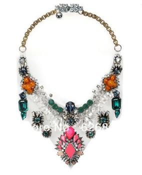 In stock High quality shourouk Lyubov Necklace/PVC bib necklace/Top Accessories,shourouk HIGH FASHION JEWELRY,Unique jewelry