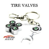 free shipping SKODA Skoda logo Superb Octavia Fabia supply valve cap with keyring