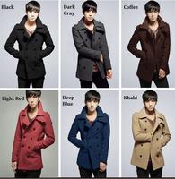 2013 Brand New Autumn Winter Jackets For Men Splice Jacket men's slim fit thickening outerwear Mens Coat Winter Overcoat