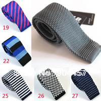 Flat Head Type Neck Ties Men Fashion Neck Gray Knitted Ties Men Wear Accessories Free Shipping 5PCS