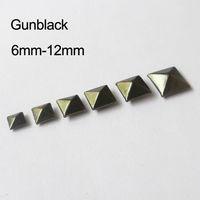 100pcs 6-12mm square rivets metal beads for garment