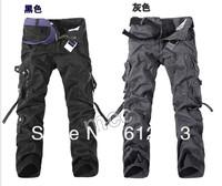 korean version new loose plus size men's multi-pocket pants,men's military pants/army green cargo pants 28-40 size