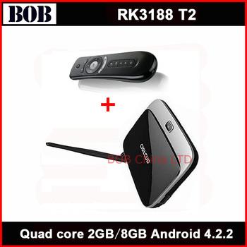 Bluetooth Rk3188 quad core tv box MK888B Android 4.2.2 OS 2GB / 8GB RK3188 28nm Cortex A9 CS918 + Fly air mouse T2