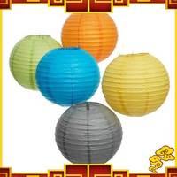 "Free Shipping 15pcs/lot 8"" 20cm Paper Lantern Lamp Multicolour Lantern Holiday Decoration Lamp"