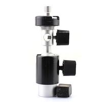 Camera Flash Shoe Umbrella Holder Swivel Light Stand Bracket D Type 1/4 3/8 inch