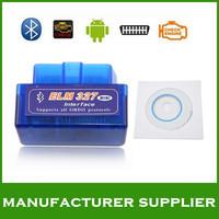 Free shipping! 2014 top Super mini elm327 V2.1 Bluetooth OBDii / OBD2 Wireless Mini elm 327 Works on Android Torque