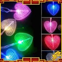 Free Shipping 2M 20 LEDs Lantern String Light Christmas Flasher Decoration Lamp Big Love Herat Lighting String