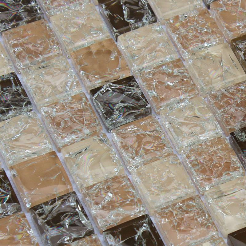 Azulejos Para Baño De Cristal:mosaico hoja de azulejos de cristal de hielo grieta para pegatinas de