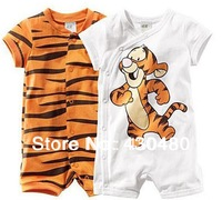 2013 Baby suit boy short sleeve romper baby cotton Ronny Turiaf design jumpsuits cartoon tiger bodysuits