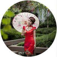 Free shipping Dia 84cm traditional handmade oiled paper umbrella rainproof sunshade decorative gift umbrella Pink peach blossom