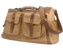 canvas leather duffle bag promotion