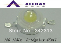 50pcs/Lot  white 1W high power LED 120-125Lm with bridgelux chip