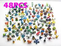 2015 child toys  Brand New Cute Lots 48pcs 2-3cm Pokemon mini random Pearl ct Figures