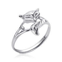 925 sterling silver ring female fox adjustable ring fashion personality to send his girlfriend Fox