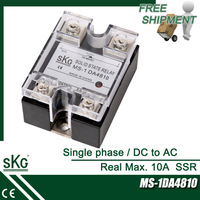 Free Shipping Max. 10A SSR temperature controller accessory, DC to AC, DC control AC single phase solid state relay