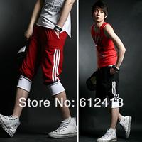 new fashion men's short sport , male hit color casual trousers with plus size M,L,XL,XXL