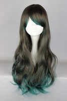 Free Shipping Top Sell 68cm Long Multi-Color Beautiful Lolita Style Cosplay Costume Wig