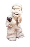 Ceramic Art (The old man of smoking) 16*20*30 Home Decoration