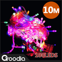 Bulb of string,220v,,Multi-color,10m,CE&RoHS,White Low price,100 LED bulbs,LED Light,Chrismas light,HOT selling,Free shipping