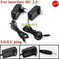 EU / US Plug Car Power Adapter Charger for Interface DC 2.5