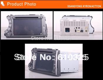 Free Shipping Car Radio Audio DVD Player GPS For SSANG YONG KYRON ACTYON TRADIE KORANDO MICRO KYRON MICRO ACTYO Retail/PCN