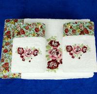 1 PCS bathtowel and 1 PCS towel sets  Brand 100% Organic Cotton towels 34*76cm 140*70cmbath towel rose Golf towel gift  luxruy