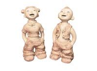 Happy Boy   (ceramic art by  handmade) 14*17*28