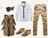 Fashion casual men backpack bags canvas travel bag Drawstring bags free shipping